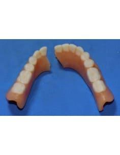 Broken lower denture